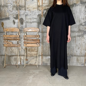 HYKE【ハイク】 SHORT -SLV DRESS BIG-FIT (12293/BLACK).