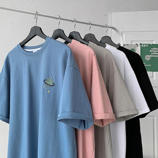 刺繍ワンポイントオーバーサイズTシャツ S4224