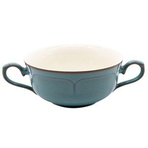 Koyo ラフィネ 両手 スープカップ 約17×12cm アンティークブルー 15987054