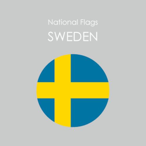円形国旗ステッカー「スウェーデン」