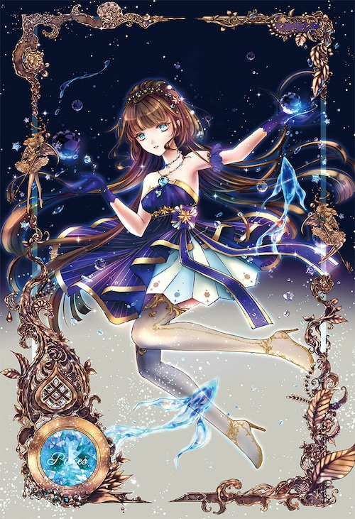 オリジナルウォールステッカー【星之物語ーStar Storyー 魚座ーPiscesー】B3 / yuki*Mami