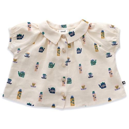Oeuf short sleeve blouse /Gardenia