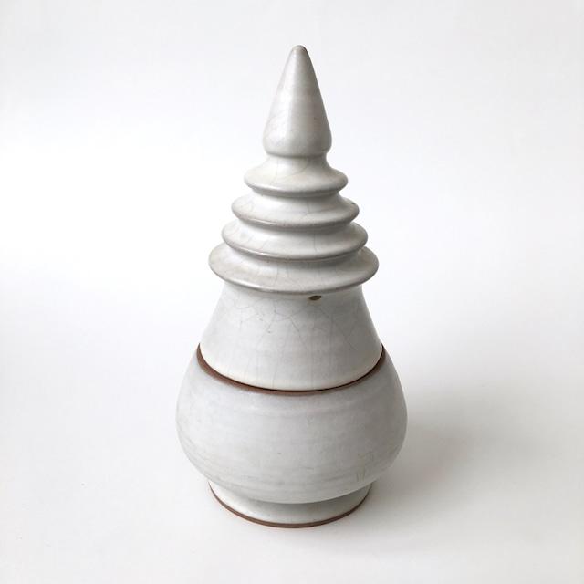 白い仏塔の瓶 Container of White Pagoda