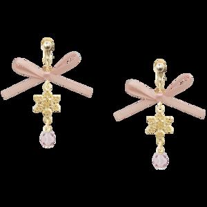 Baby Pink Ribbon Earrings