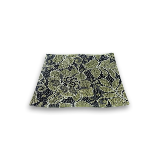 ガラストレー #82238G ブラック (15cm 角皿)