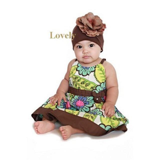 820【JamieRaeHats ジェイミーレイハット】ブラウン/ブラウン ローズ USAサイズ18ヶ月~3歳