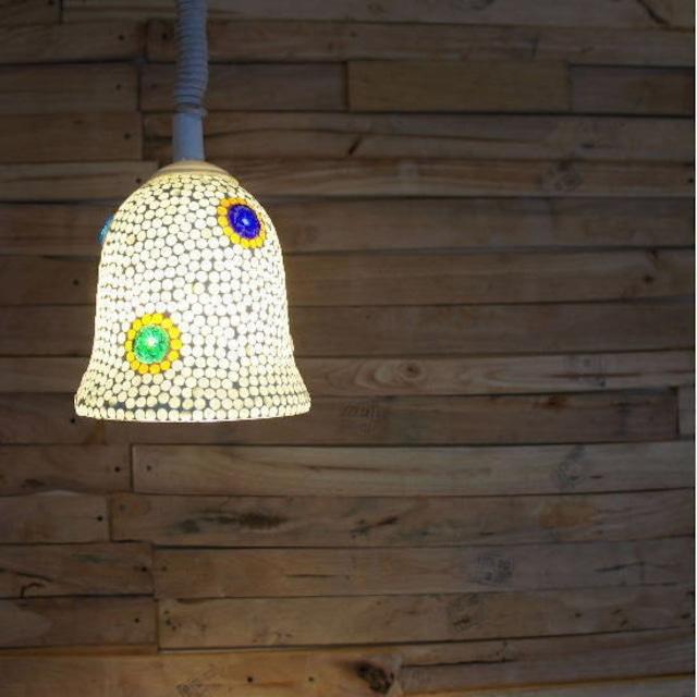 TOPANGA Lighting モザイクガラスランプ ボルドー