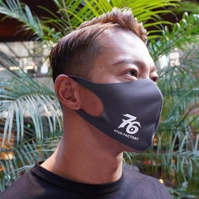 No,76 logo dry fit mask (DARK GRAY)