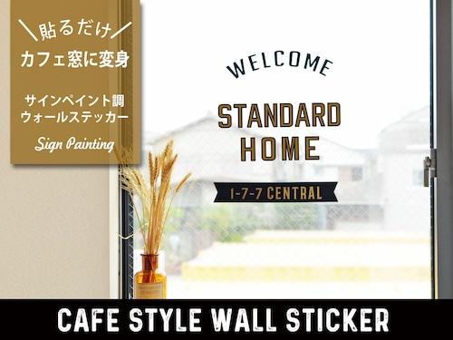 カフェ窓サインペインティング風ウォールステッカー