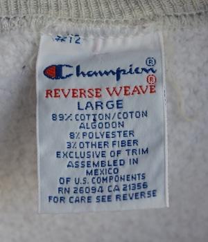 VINTAGE 90s CHAMPION REVERSE WEAVE SWEAT -BATES-