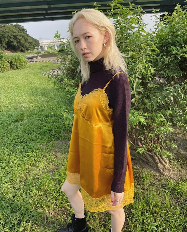 【ASHLEY】original A camisole one-piece(YELLOW)