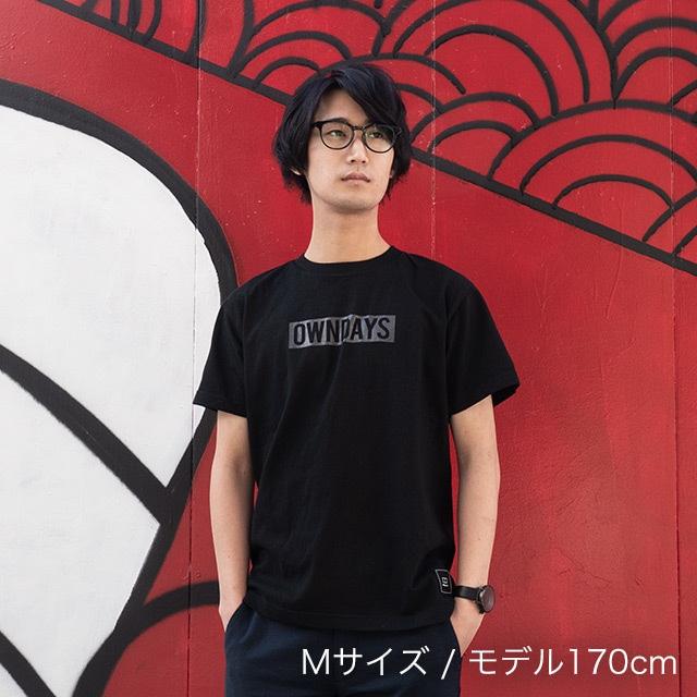 破天荒フェニックス 直筆サイン& OWNDAYS Tシャツ(黒 × グレーロゴ)+ステッカー付パッケージ