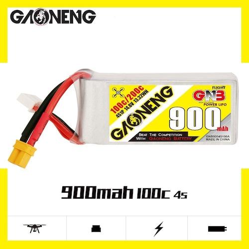 ガオニンNH2144◆GNB  900mAh 100C 4S 14.8V サイズ28(H)×31(W)×65(L)mm 98g