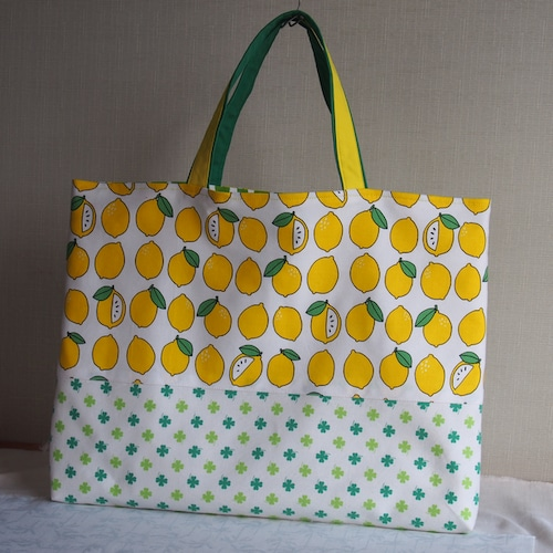 通園バッグセット/さわやかレモンの絵本バッグ(5-155)