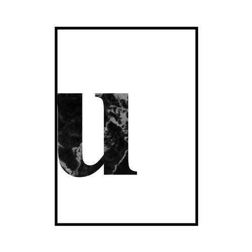 """""""u"""" 黒大理石 - Black marble - ALPHAシリーズ [SD-000548] A4サイズ ポスター単品"""