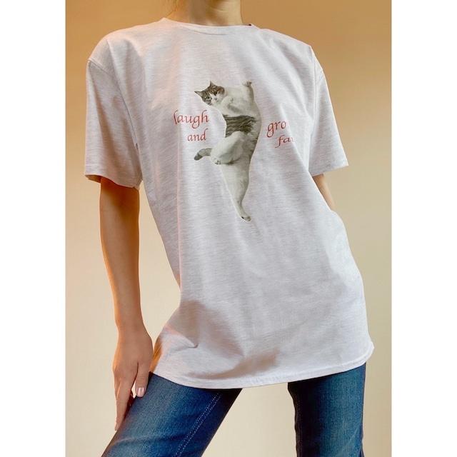 Tシャツ(グレー 弾けたピーチ)