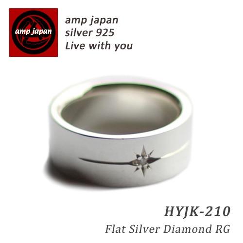 AMP JAPAN/アンプジャパン   フラットシルバーダイアモンドリング  HYJK-210