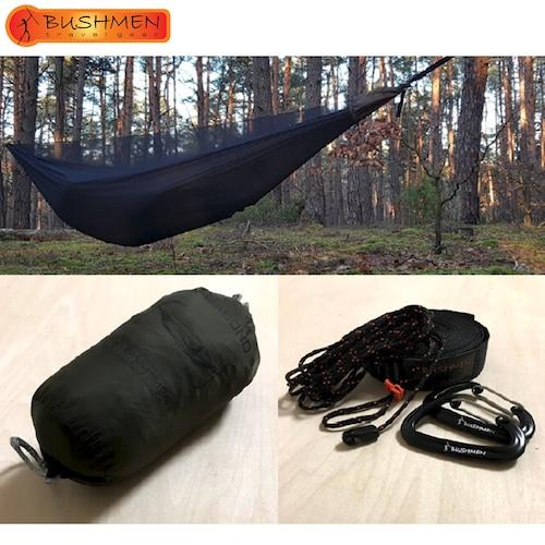 BUSHMEN ブッシュメン VAGABOND Hammock set ハンモック 軽量 パラシュート 蚊帳付き 自然派 キャンプ アウトドア