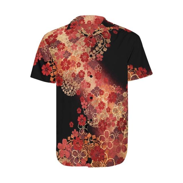 桜家紋 和柄アロハシャツ