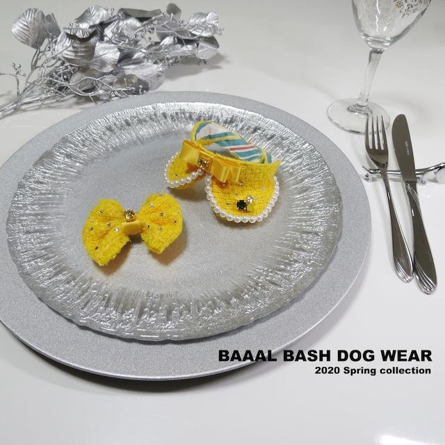黄色いツイードのバレッタ~2020 Spring collection~
