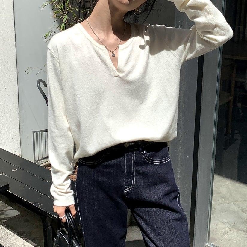V-neck sweater(Vネックセーター)b-430