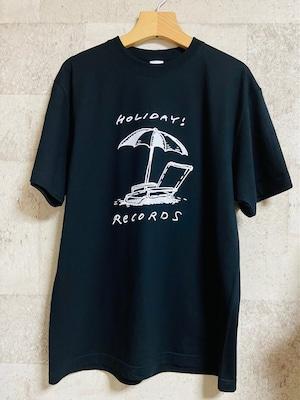 パラソルロゴTシャツ (黒)