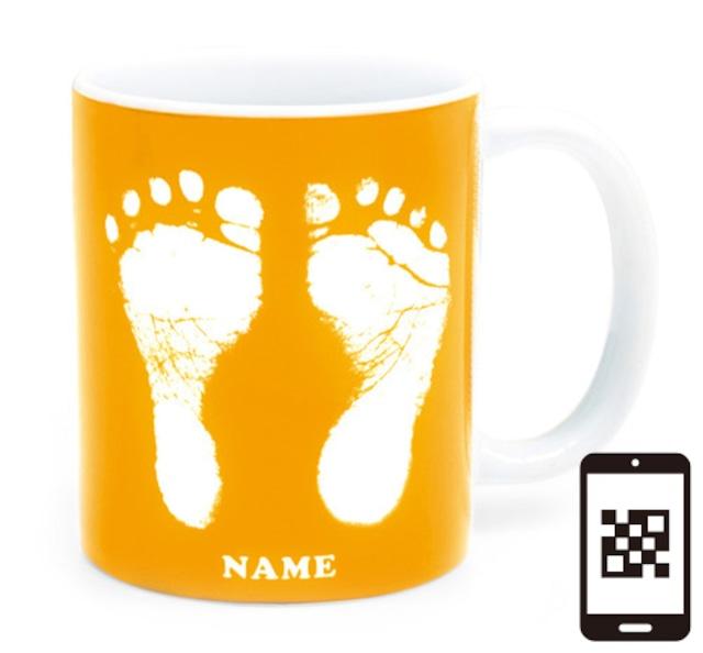 ai mug   A-type (YELLOW) QRコード付き