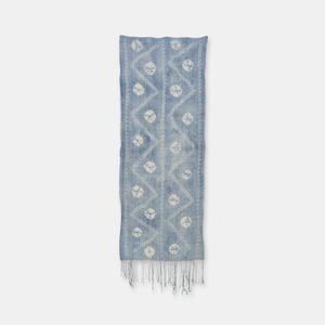 ブルキナファソ モシ族 ヴィンテージの藍染め布 絞り SLI010