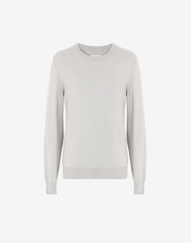 Maison Margiela Elbow patch sweater lightgrey