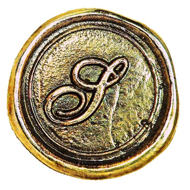 シーリングイニシャル LL 〈S〉 ブラス / コンチョボタン