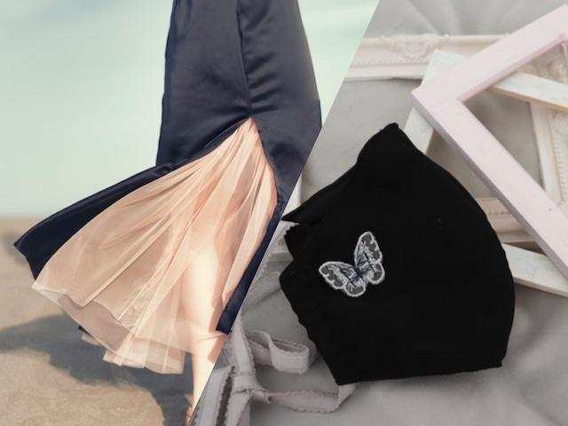 【限定セット】Papillon Mask'21(Black)+Fetish Satin Skirt(Black)