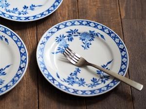 『ブルーの丸皿15センチ/Oriental flower』【ペニンシュラ食器/ブルークレスト】