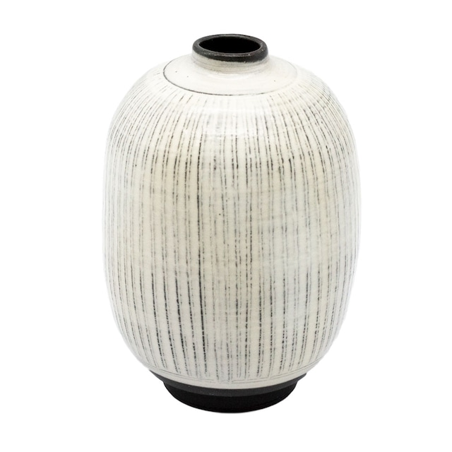 京焼 清水焼 関陶房 一輪挿し 花瓶 高さ約12cm 京わび白十草 246266