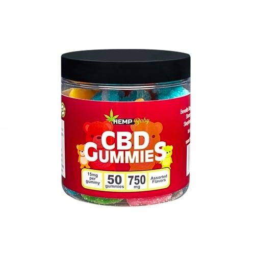 Hempbaby CBDグミ 1粒あたりCBD15mg + CBN3mg / 50粒入り