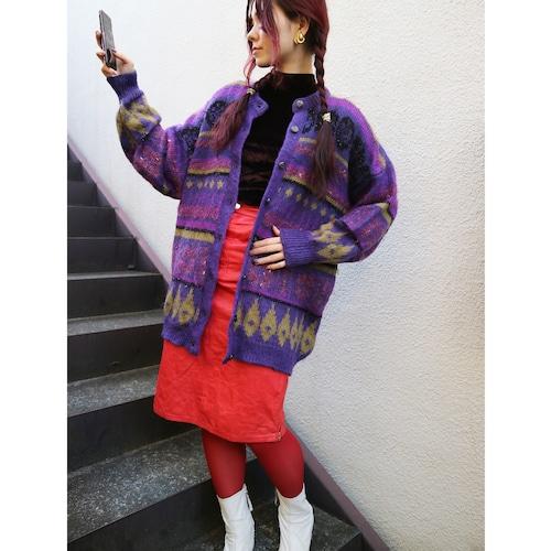 Euro purple glitter cardigan