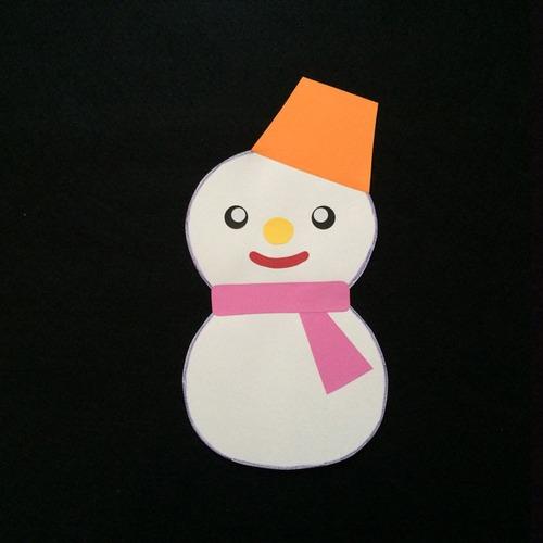 雪だるまのお母さんの壁面装飾
