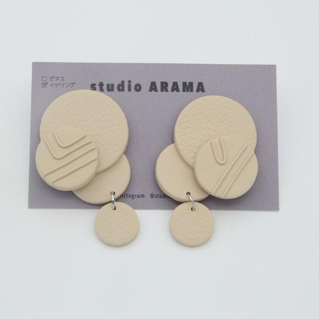 studioARAMA/スタジオアラマ/ホワイトサークル合わせイヤリング/WCA-2-44