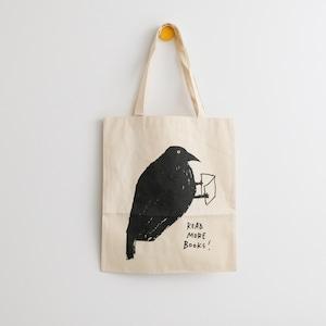 黒山 KATHY LAM トートバッグ「Bird read more books」