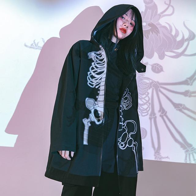 【古怪舍シリーズ】★チャイナ風コート★ アウター coat フード付き M L XL ゆったり かっこいい 男女兼用