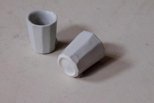伊藤環 646-1 白磁十角聞香杯