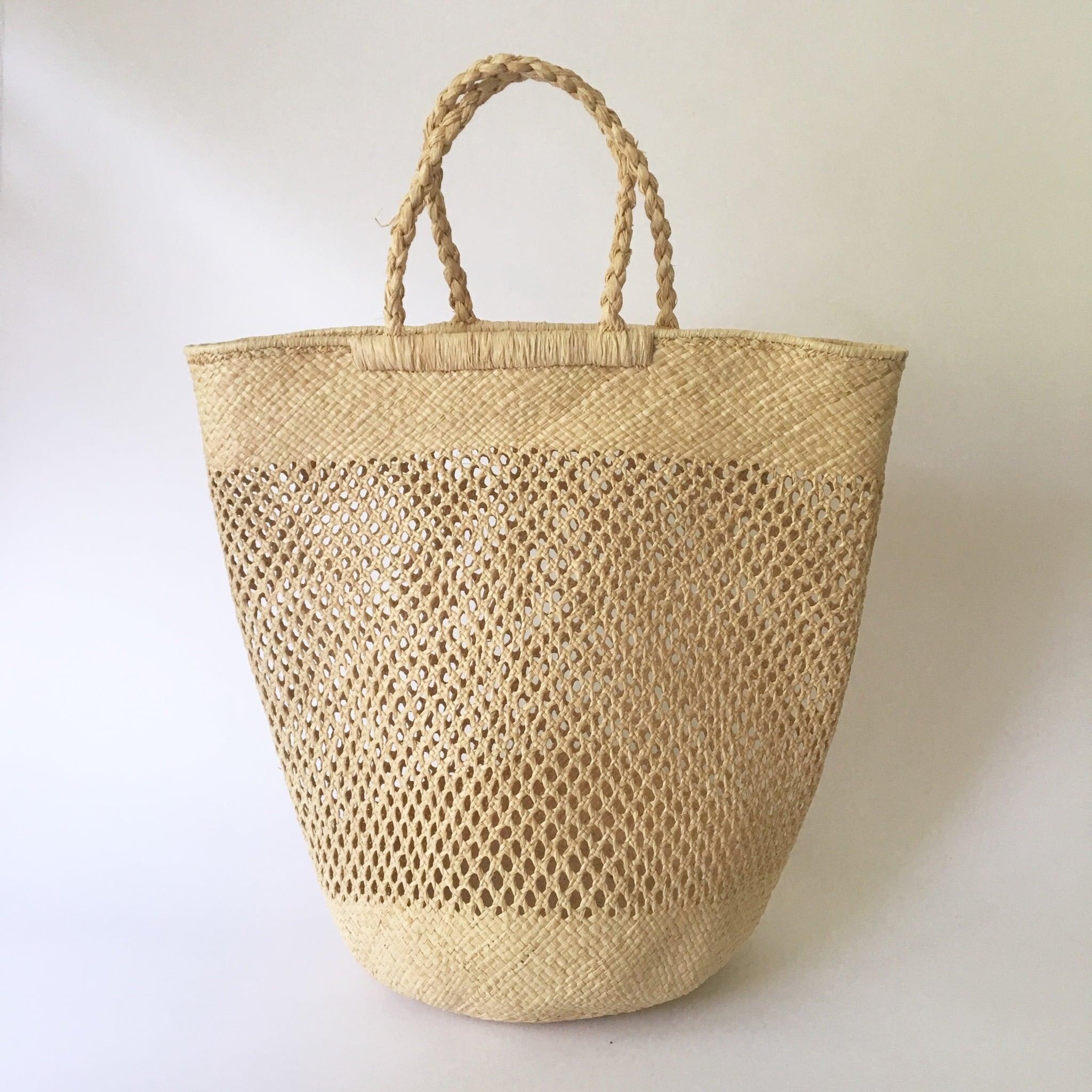 Madagascar Raffia Bucket Bag