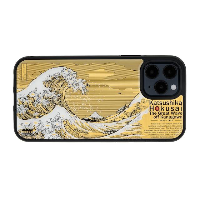 FLASH 神奈川沖浪裏 基板アート iPhone 12 / 12 Proケース【東京回路線図A5クリアファイルをプレゼント】