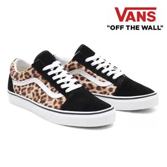 VANS バンズ ヴァンズ オールドスクール スニーカー メンズ Old Skool (Leopard) Black/True White
