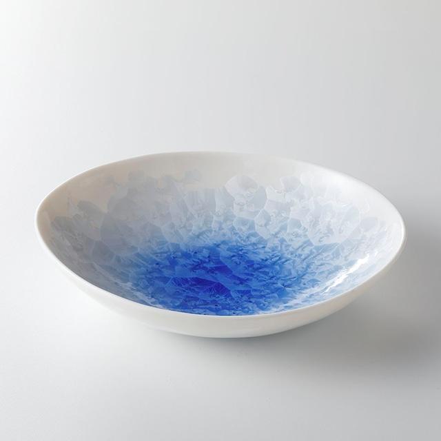 花結晶ダエン鉢(小) 青白