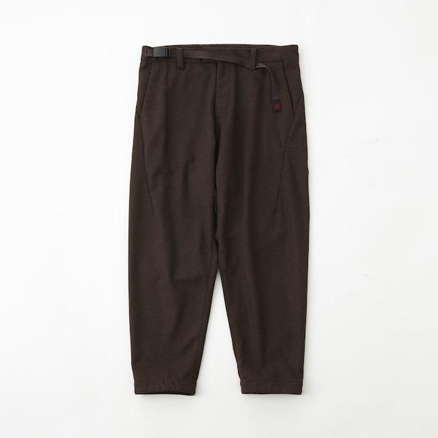 WM × GRAMICCI WOOL DARTED PANTS - BROWN