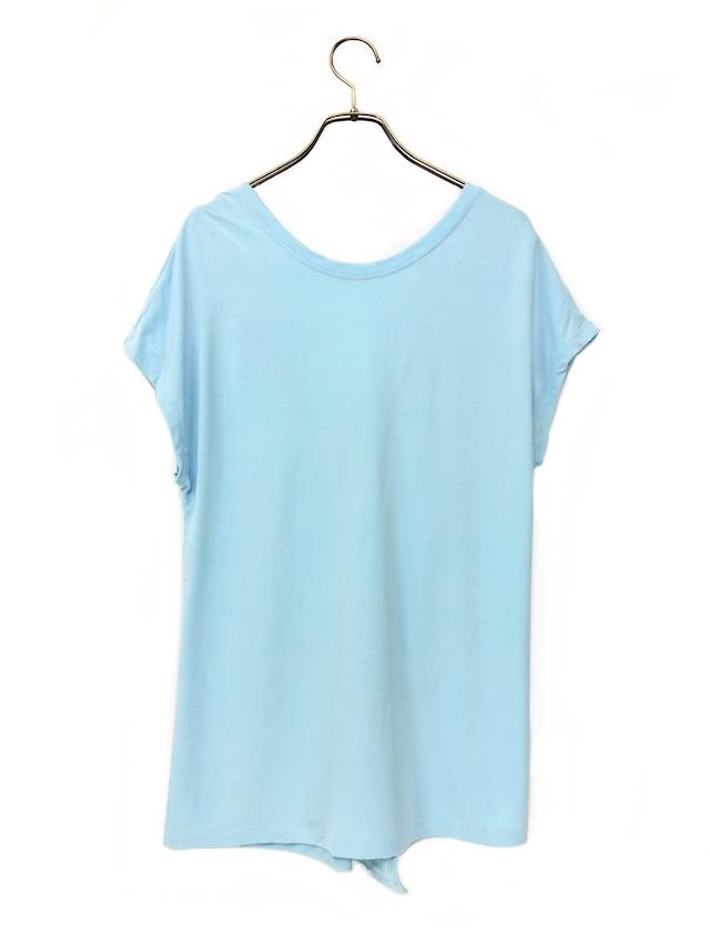 クロスバック T-shirts ピースブルー