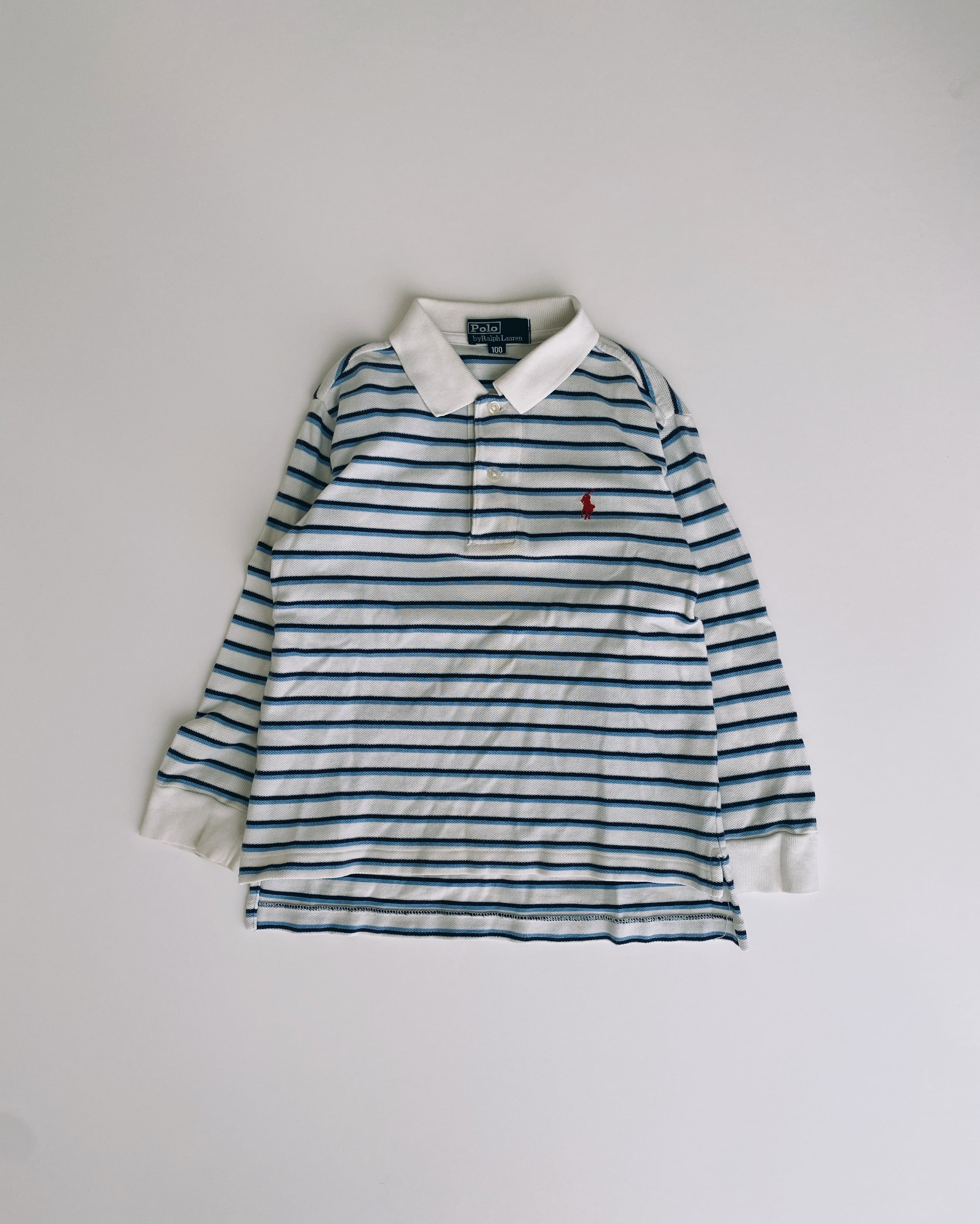 (KD193)100cm Polo Ralph Lauren border long sleeve polo shirt