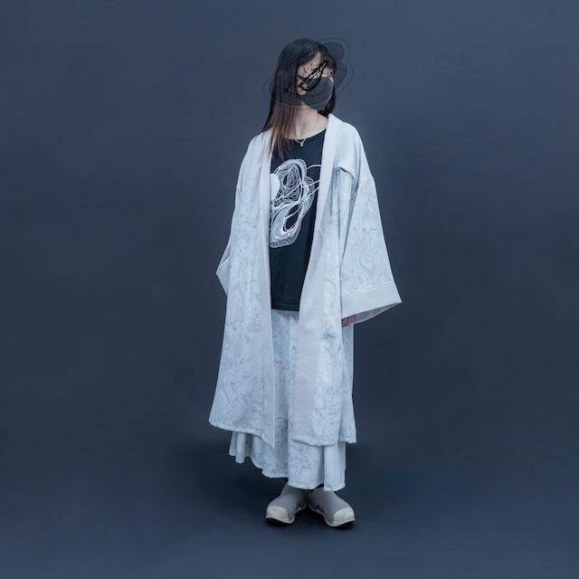 【オーダー受付】Haori (grey marble)