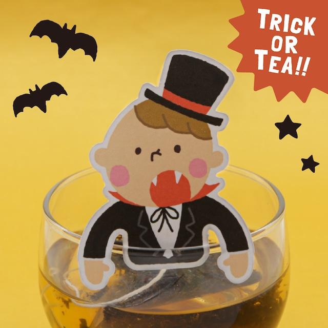 吸血ドラキュラの和紅茶|ハロウィンおばけのティータグシリーズ
