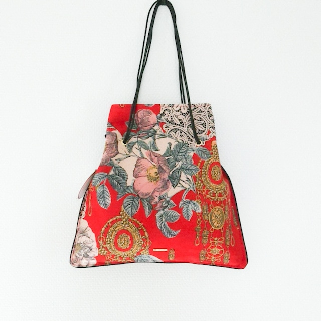 【Chicolatte】3way  PIPING BAG(ヴィンテージスカーフ)